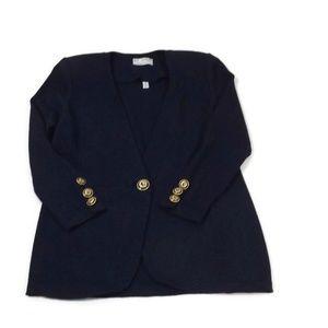b33d2df88a St. John Sweaters - ST. John Womens Sweater Size 6 Navy Blue Cardigan